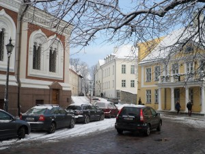 Streets by Nevsky cathedral, Tallinn, Estonia